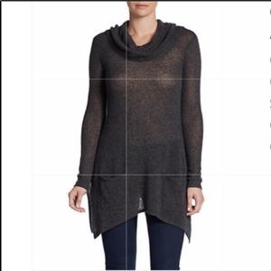 Saks Fifth Avenue hooded cashmere tunic sweater